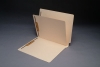 14 Pt. Manila Folders, Full Cut End Tab, Letter Size, 1 Divider Installed (Box of 40)