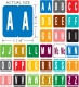 "GBS Compatible Alpha Labels, Laminated Stock, 1-5/16"" X 1-1/4"" Individual Letters - Pack of 200"