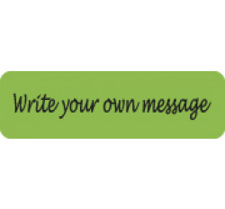 Allergy Warning Labels, &#34Write your own message&#34 - Fl Green, 2 1/2&#34 X 3/4&#34 (Roll...