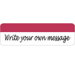 Allergy Warning Labels, &#34Write your own message&#34 - Red/White, 2 1/2&#34 X 3/4&#34 (Rol...