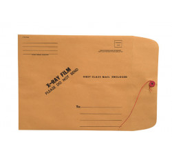 "X-Ray Film Mailers, 28lb Brown Kraft, 11"" x 13"", String and Button Closure (Carton..."