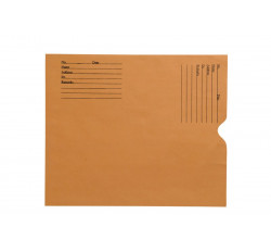 "28lb Brown Kraft Negative Preserver, Open End, Standard Imprint, 10-1/2"" x 12-1/2""..."