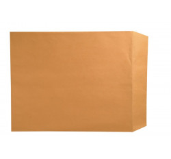 "32lb Brown Kraft Negative Preserver, Open End, Plain - Not Printed, with Flap, 14-1/2"" ..."
