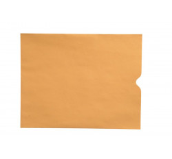 "28lb Brown Kraft Negative Preserver, Open End, Plain - Not Printed, 10-1/2"" x 12-1/2&qu..."