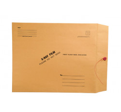 X-Ray Film Mailers, 32lb Brown Kraft, 15&#34 x 18&#34, String and Button Closure (Carton of ...