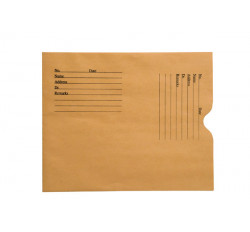 "28lb Brown Kraft Negative Preserver, Open End, Standard Imprint, 8-1/2"" x 10-1/2"" ..."
