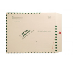 "X-Ray Film Mailers, 11 pt Manila, 15"" x 18"", Green Diamond Border, String and Butt..."