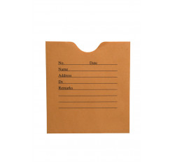 "28lb Brown Kraft Negative Preserver, Open End, Standard Imprint, 4-1/2"" x 5"" (Cart..."